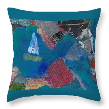 Throw Pillow featuring the mixed media Searching For The Orient by Catherine Redmayne