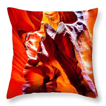 Searching For The Sun Throw Pillow by Az Jackson