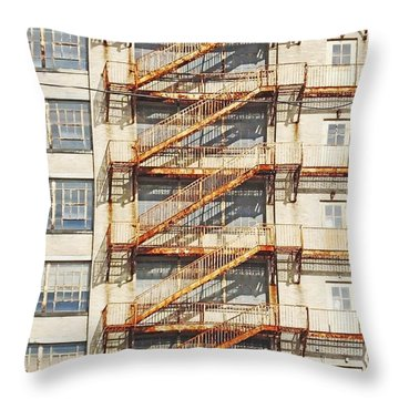 Sears Crosstown Fire Escape Memphis Tn Throw Pillow by Lizi Beard-Ward