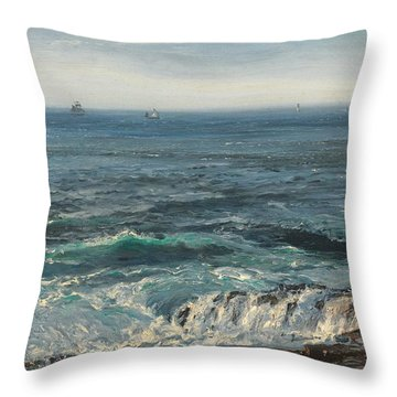 Seascape 1877 Throw Pillow