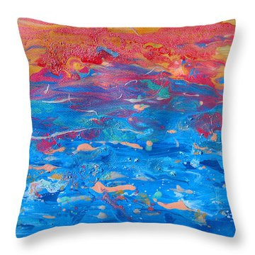 Seascape Abstract Throw Pillow