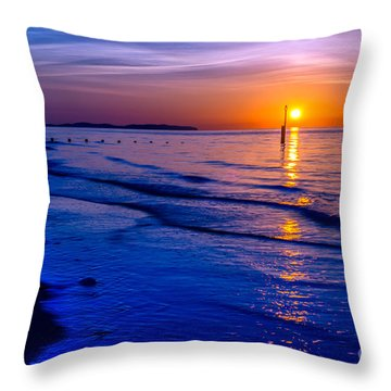 Seascape Throw Pillow by Adrian Evans