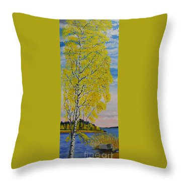 Seascape From Baltic Sea Throw Pillow