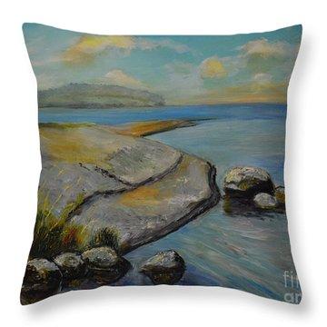 Seascape From Hamina 1 Throw Pillow