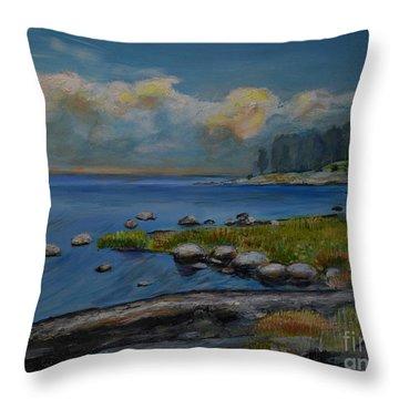 Seascape From Hamina 2 Throw Pillow