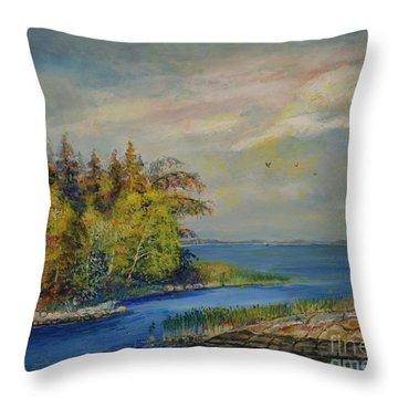 Seascape From Hamina 3 Throw Pillow