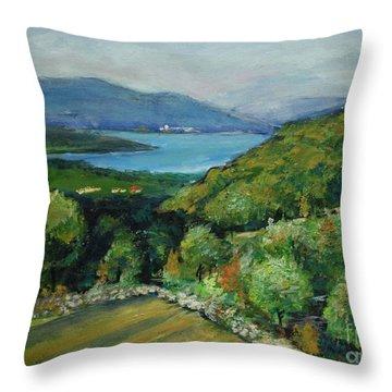 Seascape From Kavran Throw Pillow