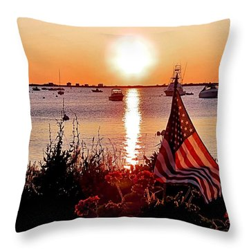 Seascape Sunrise Throw Pillow