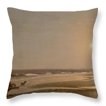 Seascape Throw Pillow by William Trost Richards