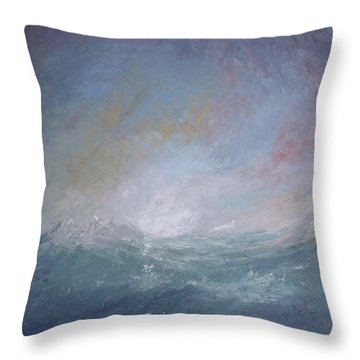 Seascape1 Throw Pillow by Sean Conlon