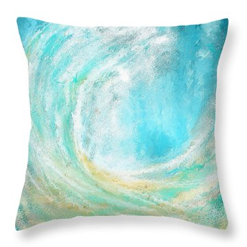 Seascapes Abstract Art - Mesmerized Throw Pillow by Lourry Legarde