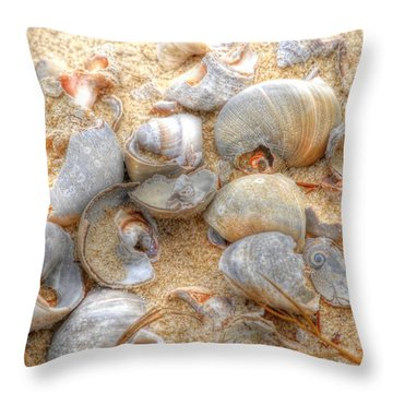 Throw Pillow featuring the photograph Seashell 01 by Donald Williams