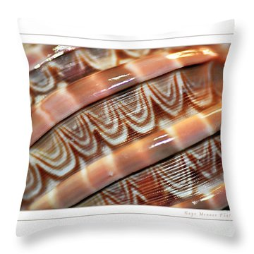 Seashell Abstract 2 Throw Pillow by Kaye Menner