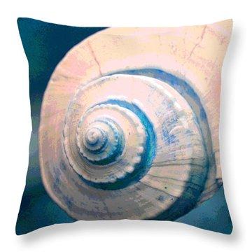 Seashell In Pastel Throw Pillow