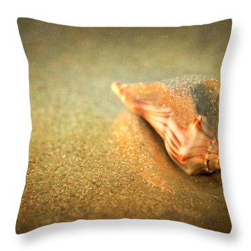 Throw Pillow featuring the photograph Seashell by Joye Ardyn Durham