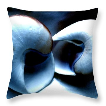 Throw Pillow featuring the photograph Seashell Rest by Colette V Hera  Guggenheim