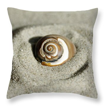 Seashell Swirl Throw Pillow by Denise Pohl