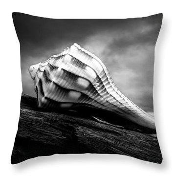 Seashell Without The Sea Throw Pillow by Bob Orsillo