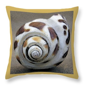 Seashells Spectacular No 2 Throw Pillow by Ben and Raisa Gertsberg