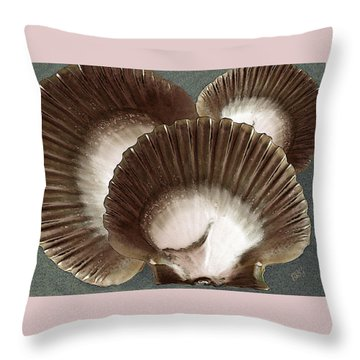 Seashells Spectacular No 22 Throw Pillow by Ben and Raisa Gertsberg
