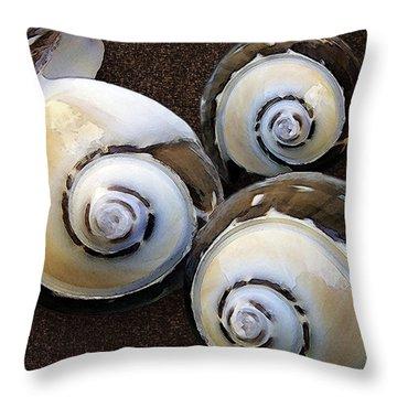 Seashells Spectacular No 23 Throw Pillow