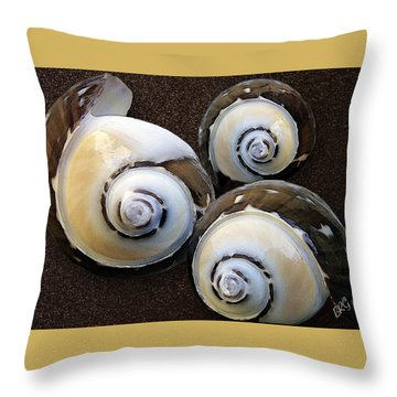 Seashells Spectacular No 23 Throw Pillow by Ben and Raisa Gertsberg