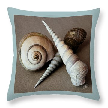 Seashells Spectacular No 24 Throw Pillow by Ben and Raisa Gertsberg