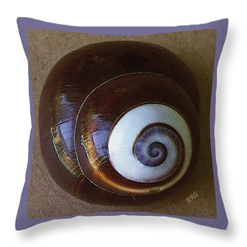 Seashells Spectacular No 26 Throw Pillow by Ben and Raisa Gertsberg