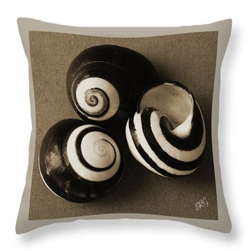 Seashells Spectacular No 27 Throw Pillow by Ben and Raisa Gertsberg