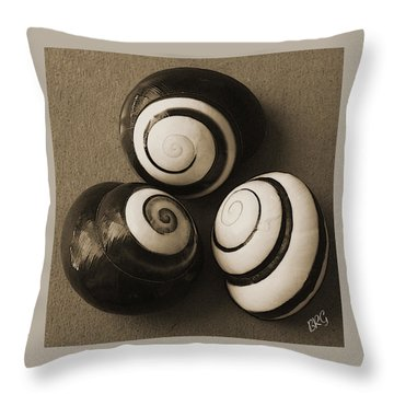 Seashells Spectacular No 28 Throw Pillow by Ben and Raisa Gertsberg