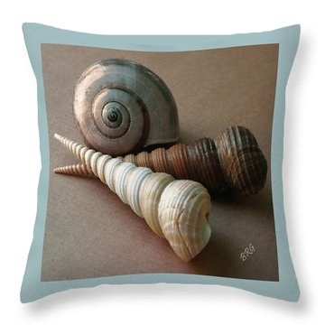 Seashells Spectacular No 29  Throw Pillow by Ben and Raisa Gertsberg