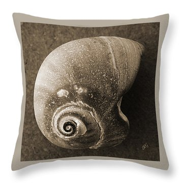 Seashells Spectacular No 31 Throw Pillow by Ben and Raisa Gertsberg