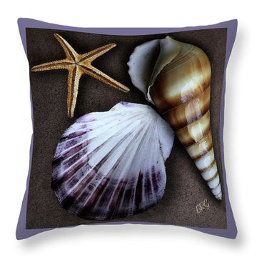 Seashells Spectacular No 37 Throw Pillow by Ben and Raisa Gertsberg