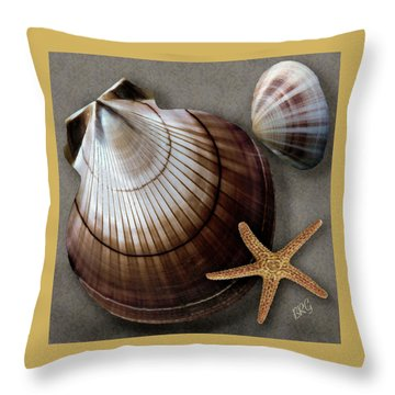 Seashells Spectacular No 38 Throw Pillow by Ben and Raisa Gertsberg