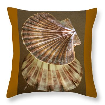 Seashells Spectacular No 54 Throw Pillow by Ben and Raisa Gertsberg