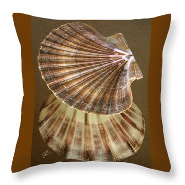 Throw Pillow featuring the photograph Seashells Spectacular No 54 by Ben and Raisa Gertsberg
