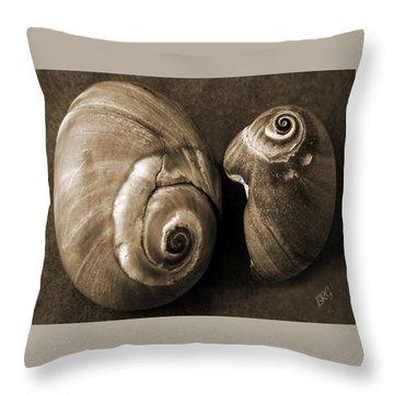 Seashells Spectacular No 6 Throw Pillow by Ben and Raisa Gertsberg