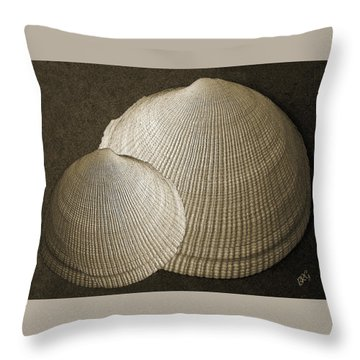 Seashells Spectacular No 8 Throw Pillow by Ben and Raisa Gertsberg