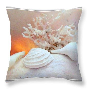 Seashells Study 3 Throw Pillow by Danielle  Parent