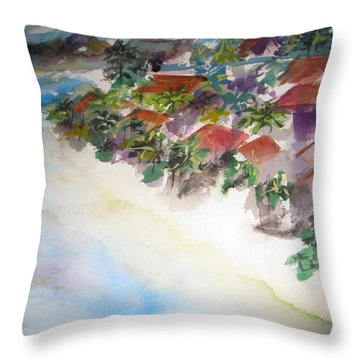 Seashore In Bali Throw Pillow
