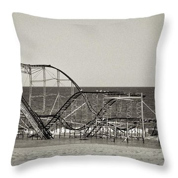 Seaside After Sandy Throw Pillow