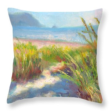 Seaside Afternoon Throw Pillow by Talya Johnson