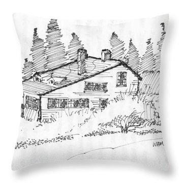 Seaside Cottage Monhegan Island 1993 Throw Pillow
