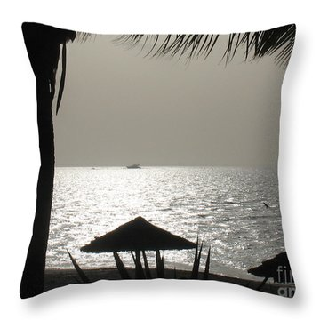 Seaside Dinner For Two Throw Pillow by Patti Whitten