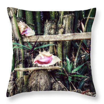 Seaside Display Throw Pillow by Melanie Lankford Photography