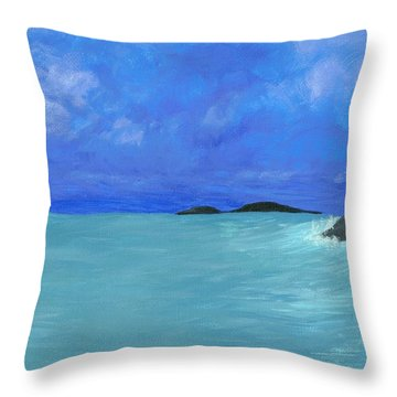Throw Pillow featuring the painting Seaside by Elizabeth Sullivan