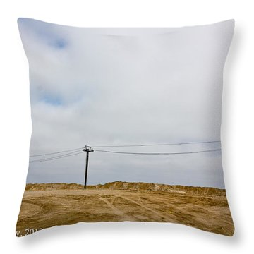 Throw Pillow featuring the photograph Seaside Heights by Ann Murphy