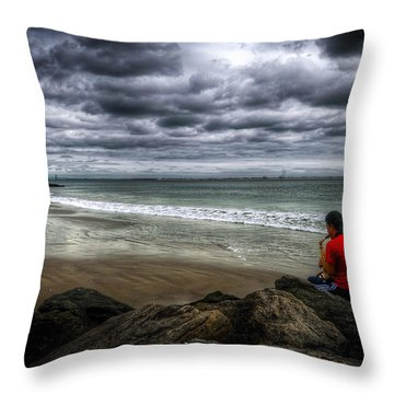 Seaside Music Throw Pillow by Svetlana Sewell