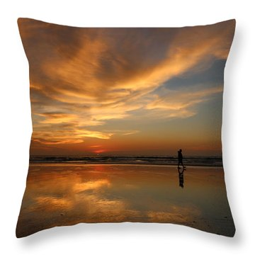 Throw Pillow featuring the photograph Seaside Reflections by Christy Pooschke