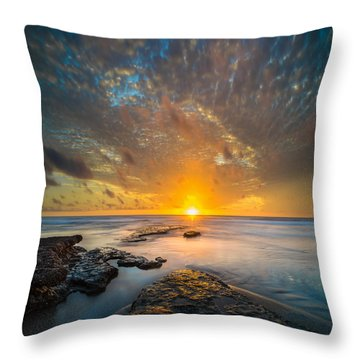 Seaside Sunset - Square Throw Pillow